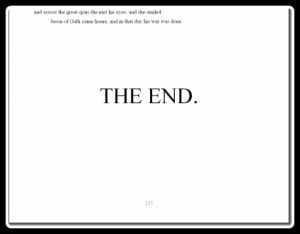 "You owe your readers resolution, so make sure to write the end before you write, ""The End."""
