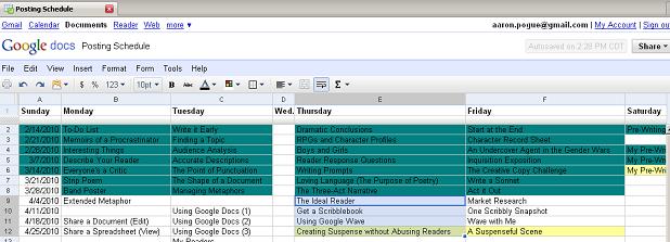 Posting Schedule 4