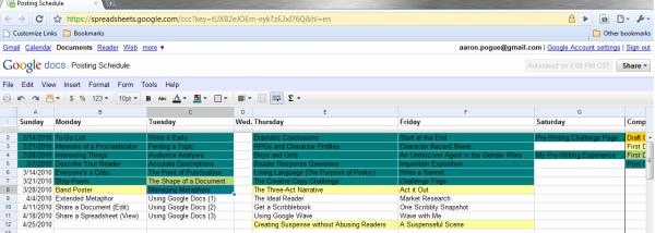 Posting Schedule 3