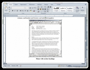 A screenshot of a Word 2003 document in a screenshot of a Word 2007 document in an ePub PDF. Cool.