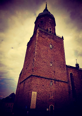 Bell tower of St. Annenkirche, Annaberg-Buchholz, Saxony