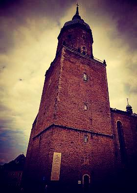 Bell tower of St. Annenkirche, Annaberg-Buchholz, Saxony